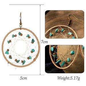 Lex T's Closet Jewelry - BOGO! Turquoise Dream Catcher Hoop Earrings Boho